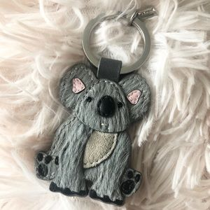 Coach Koala Bear Leather Keychain